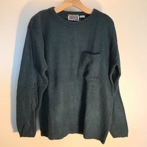 Women's vintage Forenza green lambs wool sweater